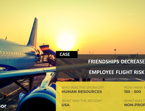 Friendships Decrease Employee Flight Risk