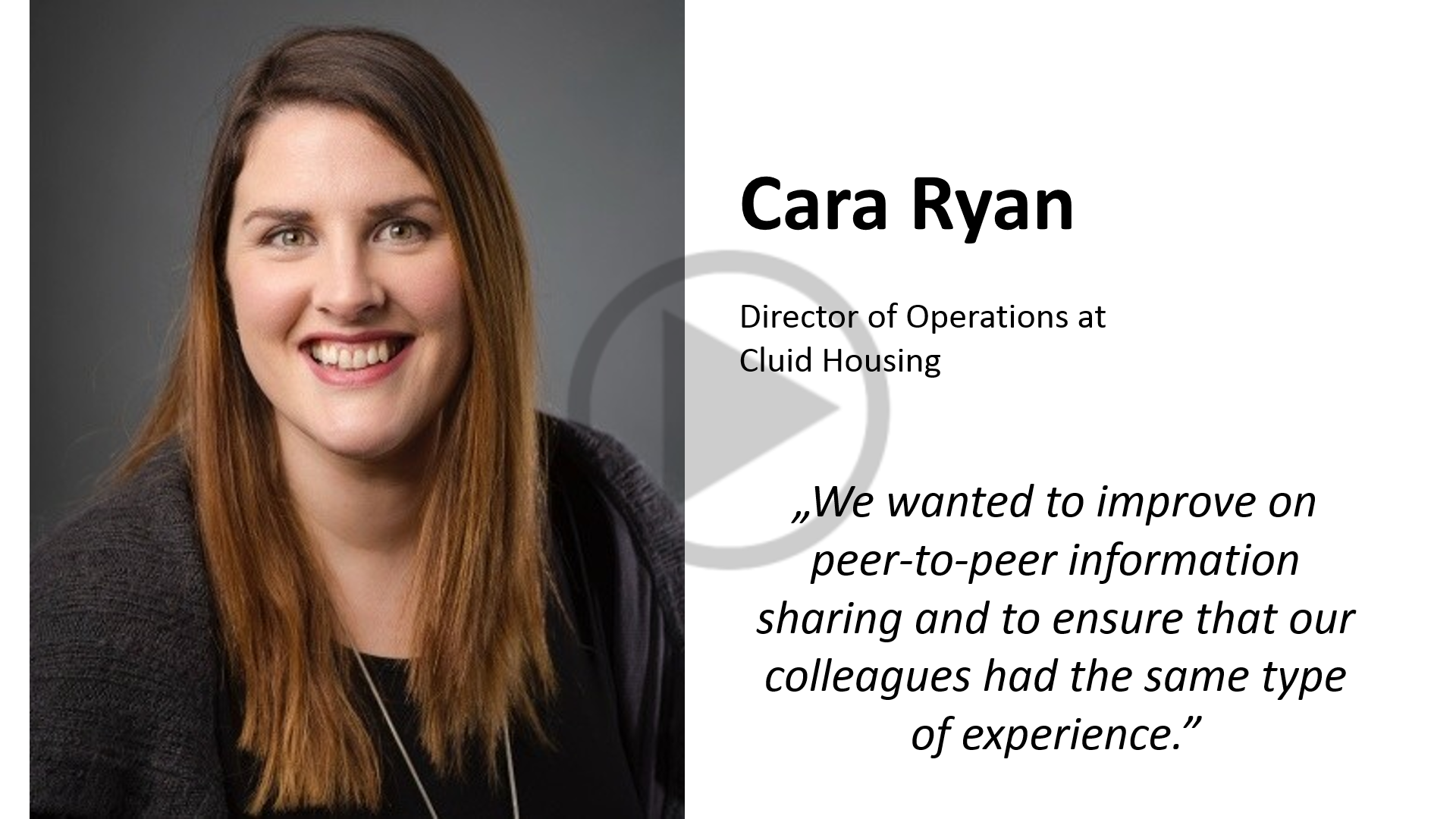 Cara Ryan, Cluid Housing
