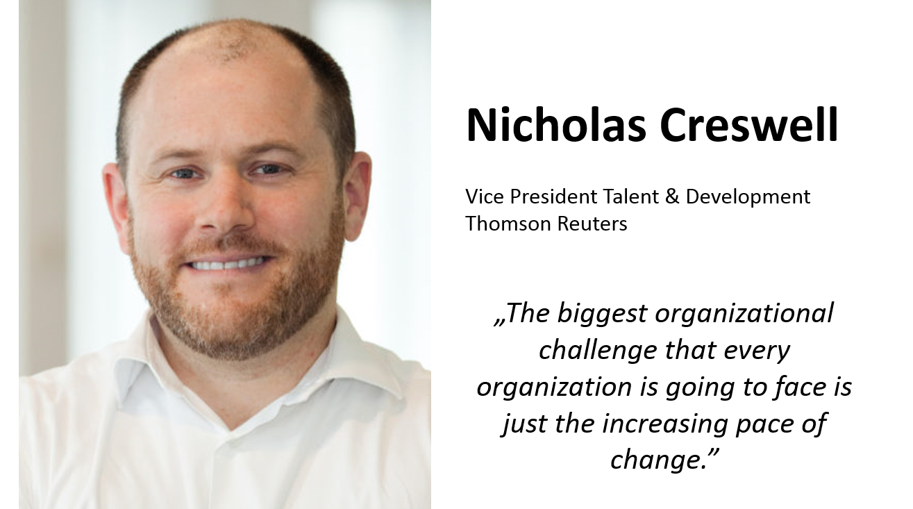 Nicholas Creswell, Vice President of Talent & Development at Thomson Reuters