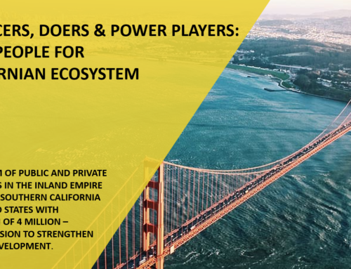 Influencers, Doers & Power players: The Key People for A Californian Ecosystem